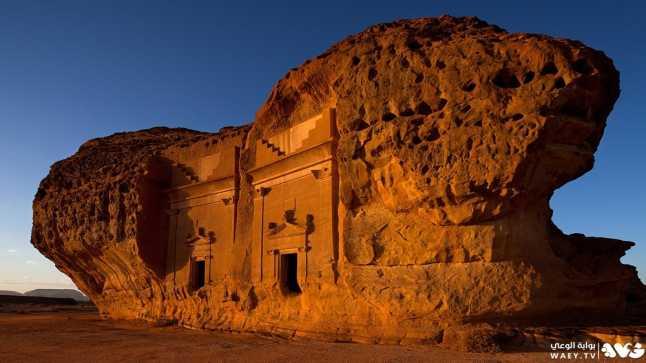 مدائن صالح الواقعة في مدينة العلا بالمملكة العربية السعودية
